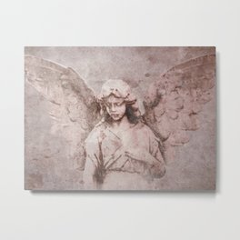 A Guardian Angel, To Watch Over Us A322b Metal Print