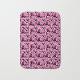 Floral Pink Collage Pattern Bath Mat