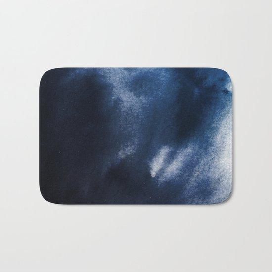 Watercolor Blue Bath Mat