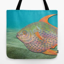 Vintage sketch of a colourful fish Tote Bag