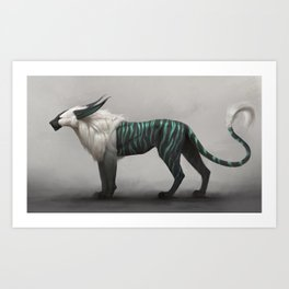 Stilt cat Art Print