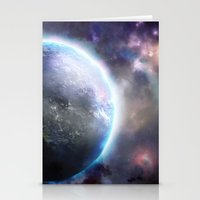 planet Stationery Cards featuring Planet by Øyvind Lien