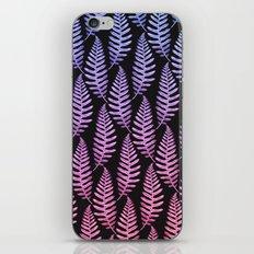 Multi Color Leaves (Black) iPhone & iPod Skin