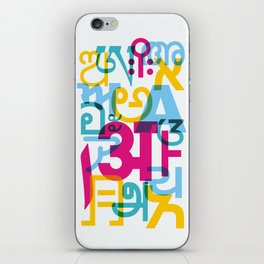 A in Scripts Around the World iPhone Skin