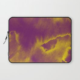 Watercolor texture - purple and yellow Laptop Sleeve