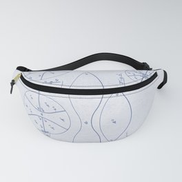 Football Patent Blue Paper Fanny Pack