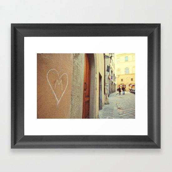 M - Heart  Framed Art Print