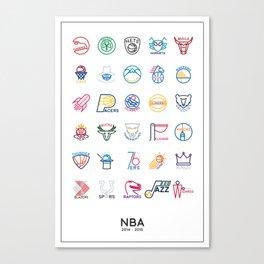 NBA Teams logos Canvas Print
