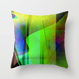 Multicolored abstract 2016 / 006 Throw Pillow
