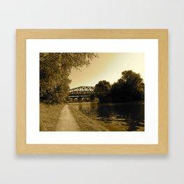 Bridge over the Water  Framed Art Print