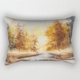 Autumn Watercolor Rectangular Pillow