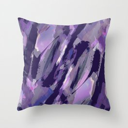 Thunder Plum Abstract Throw Pillow