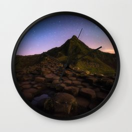 The Giants Causeway with the stars | Print (RR 269) Wall Clock