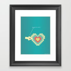You Are Pixel Perfect.  Framed Art Print