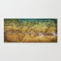 maps Canvas Prints featuring Maps by liberthine01