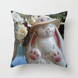 A White Rabbit Throw Pillow