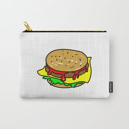 Cheeseburger Doodle Carry-All Pouch