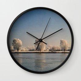 Frozen Landscape. Wall Clock