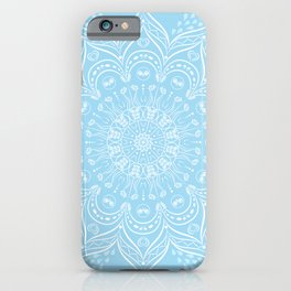 Sky Blue Boho Mandala iPhone Case
