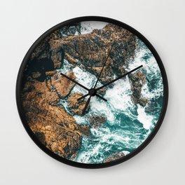 Rocky Coast Print, Aerial Print, Aerial Coastal Art, Ocean Wall Art, Ocean Waves, Coastal Decor Wall Clock