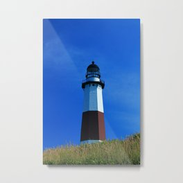 Tall Grasses and a Lighthouse Metal Print