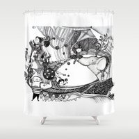 circus Shower Curtains featuring Circus by Ivanushka Tzepesh