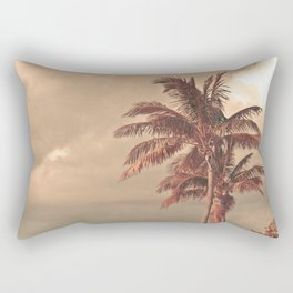 Retro Palm Tree Rectangular Pillow