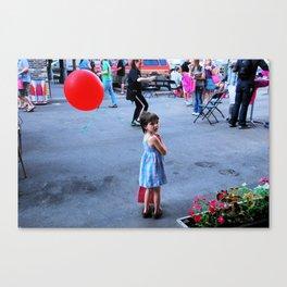 banksy's  girl  Canvas Print