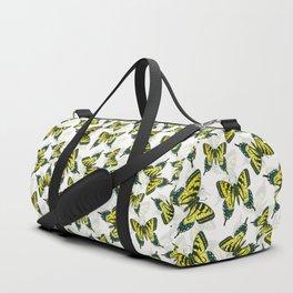 Tiger swallowtail butterfly watercolor pattern Duffle Bag
