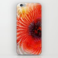poppy iPhone & iPod Skins featuring Poppy by Klara Acel