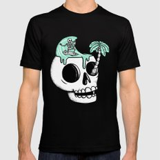 Surfer Thoughts LARGE Mens Fitted Tee Black