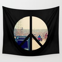woodstock Wall Tapestries featuring Woodstock 69 by Silvio Ledbetter