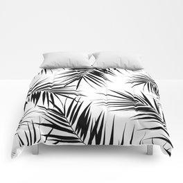 Palm Leaves Cali Finesse #3 #BlackWhite #tropical #decor #art #society6 Comforters