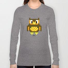 8 Bit Owl Long Sleeve T-shirt