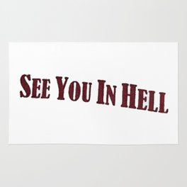 see you in hell Rug