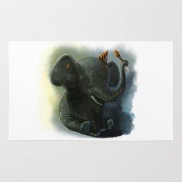 Painting Elephant Rug