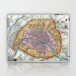 Vintage Map of Paris Fortifications (1841) Laptop & iPad Skin
