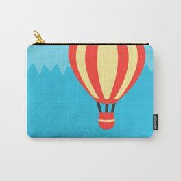 Classic Red and Yellow Hot Air Balloon Carry-All Pouch