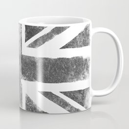 Grey UK Flag Coffee Mug