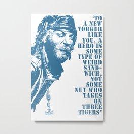Kellys Heroes - Oddball Says Blue Metal Print