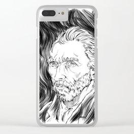 Van Gogh in black Clear iPhone Case