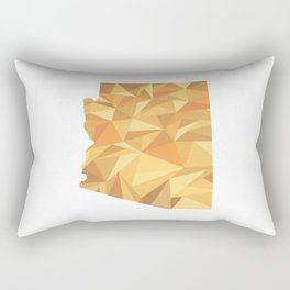 Arizona Pattern Map Art Rectangular Pillow