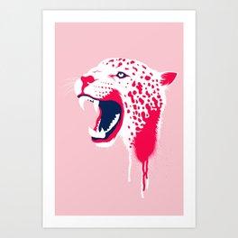 Jaguar Head Art Print