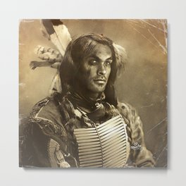 Native series: Jason Momoa Sioux Metal Print