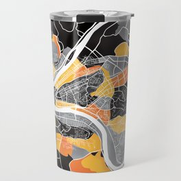 Pittsburgh Map Travel Mug
