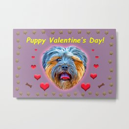 Puppy Valentine's Day! Metal Print