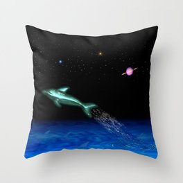 Astral Sea Throw Pillow
