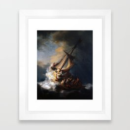 The Storm on the Sea of Galilee, Rembrandt Framed Art Print