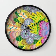 Cloud Peacock Wall Clock