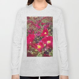 Red Flowers Long Sleeve T-shirt